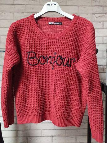 Bordowy sweter r.M