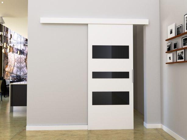 Drzwi przesuwne C80 białe nowe, producent, najtaniej, komplet