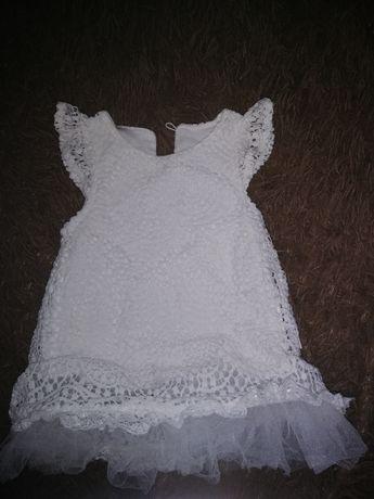 Нарядное пышное платье для новорождённого для крещение