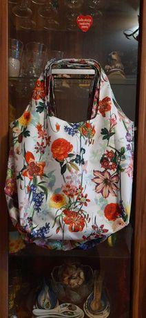 modna duża torba worek kolorowa