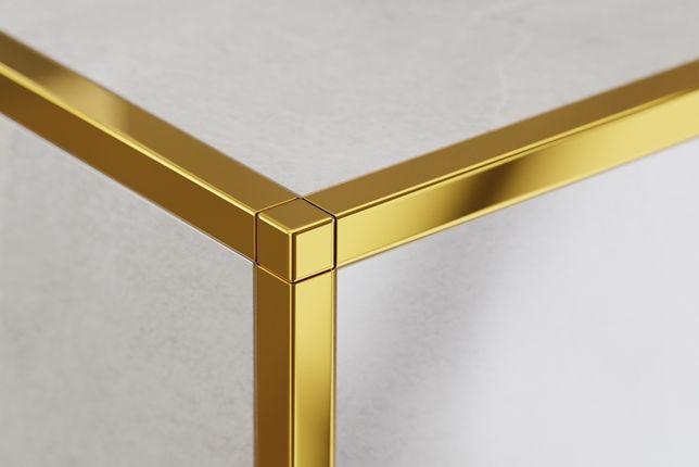 Listwy dekoracyjne metalowe, złote listwy