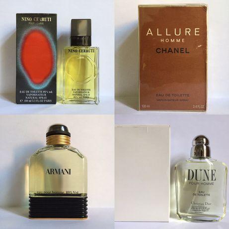 Dior Dune Nino Cerruti Chanel Allure Armani Eau Pour Homme винтаж