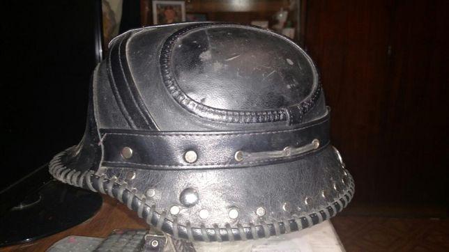 Оригинальный немецкий шлем (обтянутый кожей)