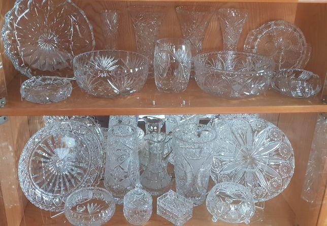 Kryształ Komplet Piękne Kryształy Wazon Misa Bomboniera