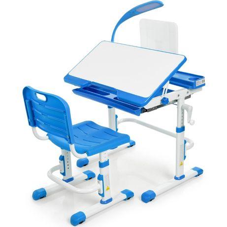 Детский стол и стул, подставка для книг, лампа, 70 см