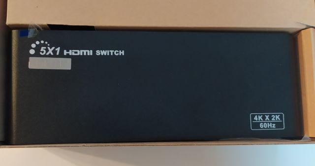 Przełącznik 4k*2k 3D 60Hz 5x1 HDMI Switch dodatkowo RS232 + Pilot