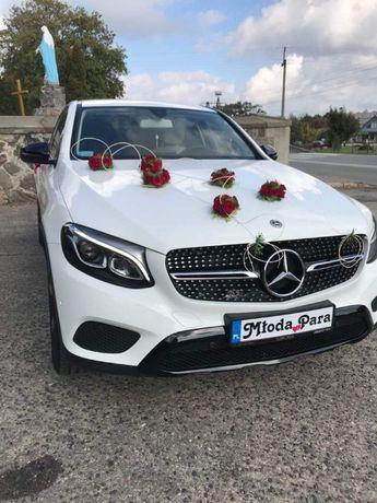 Białe Auto do Ślubu Mercedes biały GLC Coupe