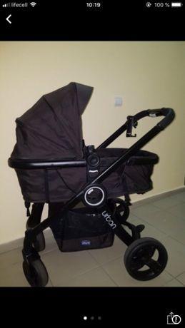 Продам коляску Chicco Urban 2в 1 (зимний и летний текстиль)