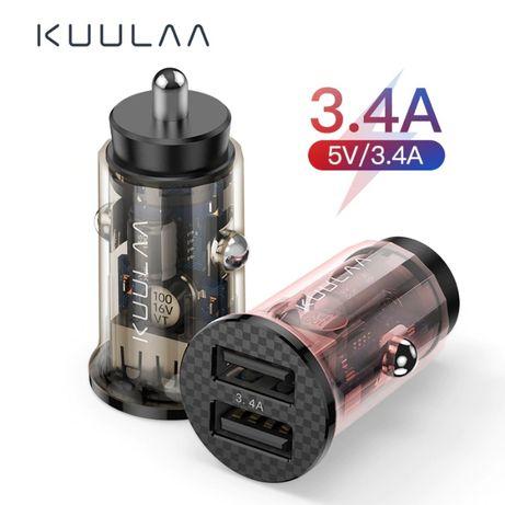 Автомобильное зарядное Автозарядка KUULAA 17W быстрая зарядка