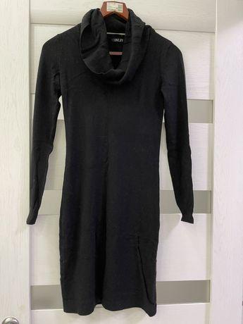 Платье чёрное вязаное размер S-M , 42-44