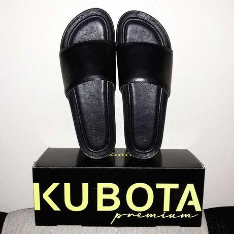 Kubota nowe klapki 43 czarne black plain