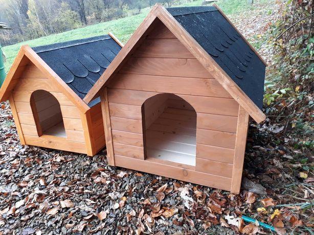 Drewniane solidne budy dla psów