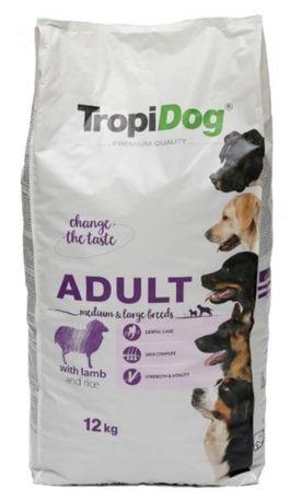 TropiDog - 12 kg. Jagnięcina , wołowina , kaczka , indyk-karma dla psa