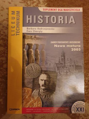 Historia - suplement dla nauczyciela.