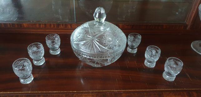 Zestaw kryształowy z 6 kieliszkami