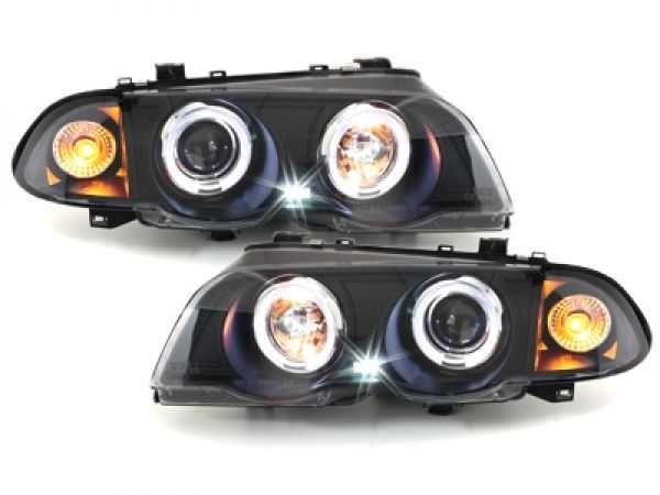 Reflektory BMW E46 98-01 Ringi Black