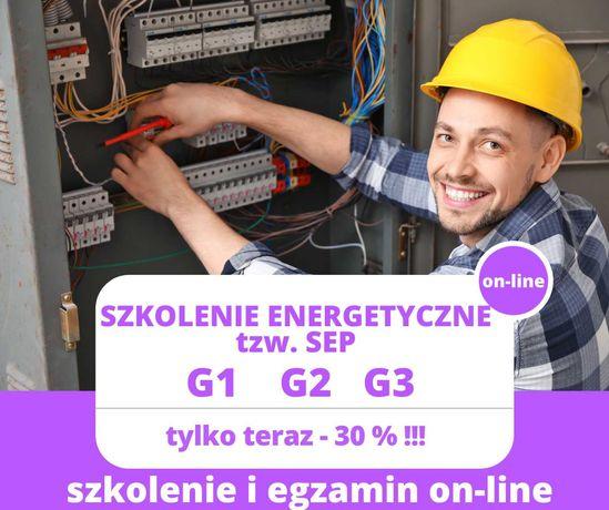 Szkolenie SEP G1, G2, G3. Szkolenie i egzamin online! Uprawnienia SEP