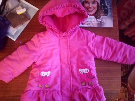 Курточка на девочку теплая 74 см