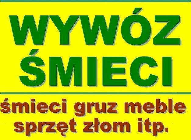 WYWÓZ ŚMIECI- utylizacja mebli gruzu, sprzętu itp. wysypisko transport