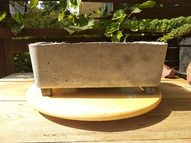 Doniczka betonowa prezent sukulent bonsai duża