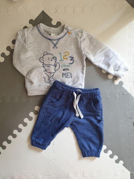 Komplety chłopięce bluza + spodnie Kubuś Puchatek r. 62