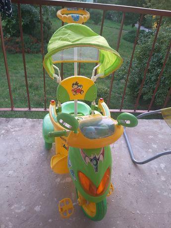 Rowerek na 3 kółkach , trójkołowy, zdejmowane podnóżki, rower dzieciec