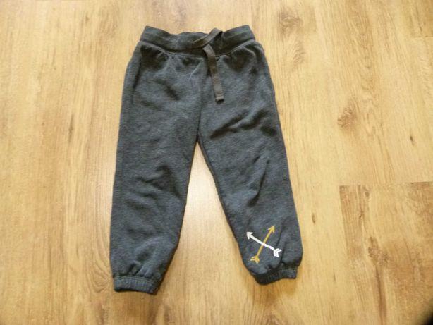 rozm. 92 spodnie dresowe szare chłopięce