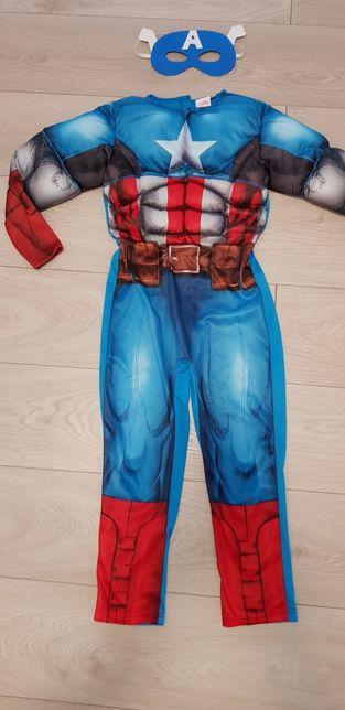Marvel Avengers kostium Kapitan Ameryka 6-8lat r.128 maska bal urodzin