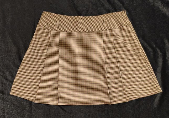 Spódnica brązowa w kratę, Camaieu, rozm. 42