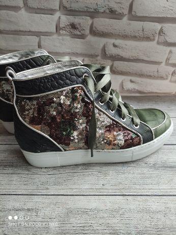 Ботинки оригинал Италия кожа Barracuda Premiata max mara