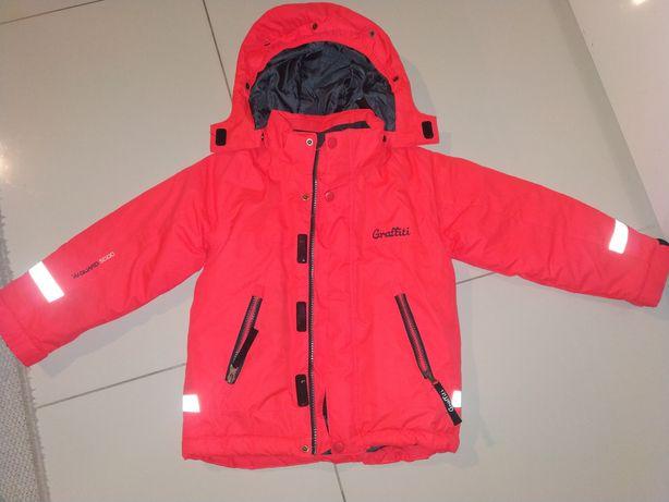 Kurtka narciarska dziewczynka neon 104