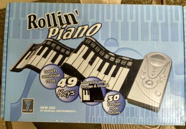 Детский синтезатор на 49 кл с гибкой клавиатурой
