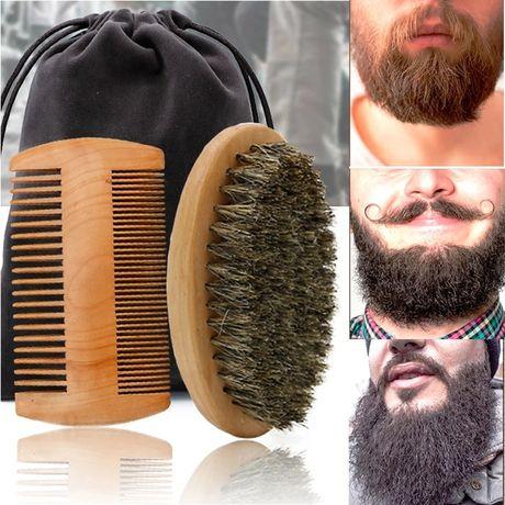 Набор для усов, бороды, щётка, гребень, расческа