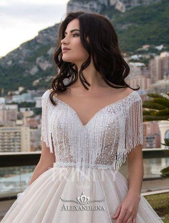 Великолепное блестящее мерцающее свадебное платье Mirabella