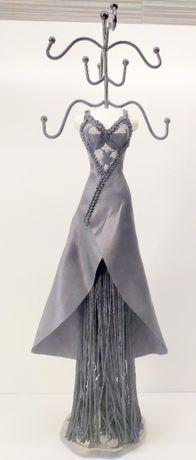 PREZENT wysoki stojak szkatułka na biżuterię kobieta (40 cm
