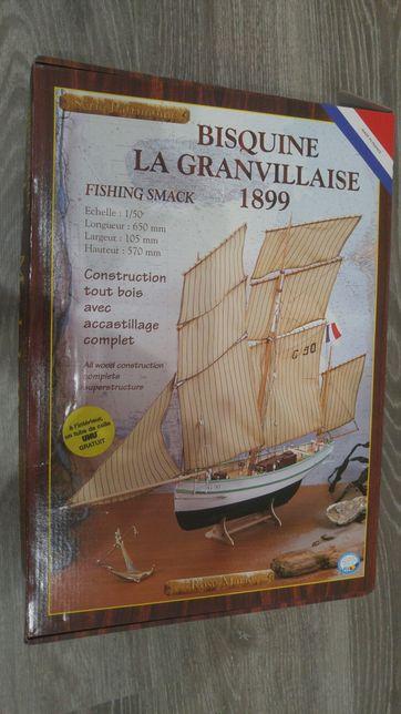 Сборная модель парусника корабля Bisquine La Granvillaise ROSE MARIE