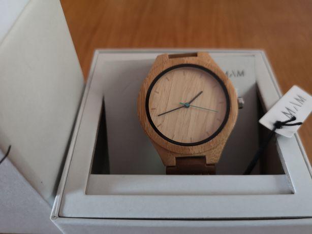 Zegarek drewniany oryginalny MAM Histo 600 bambusowy