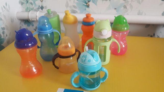 Бутылка поильник с трубочкой  детская посуда