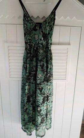 Sukienka midi zielona