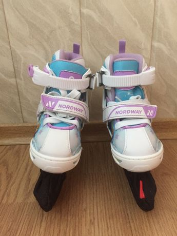 Продам новые детские коньки Nordway (холодное сердце)