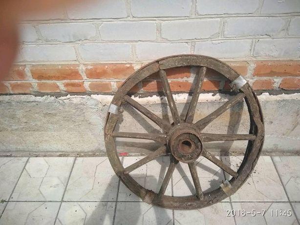 Деревяное колесо от воза.антиквариат.