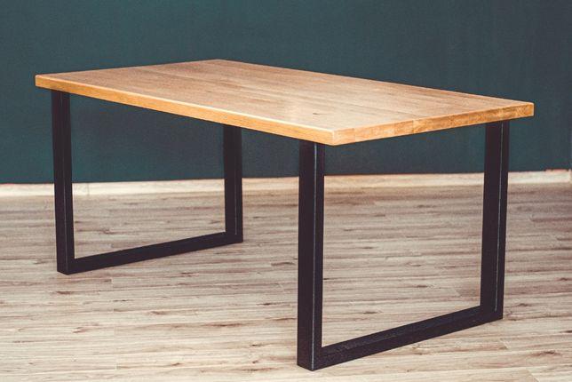 Stół Loft - blat lite drewno Meble loft na wymiar