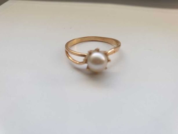 Złoty pierścionek 18k (750) z perełką