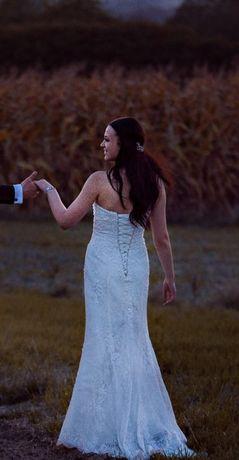 Śliczna koronkowa suknia ślubna styl syrenka rozm. 38 POLECAM