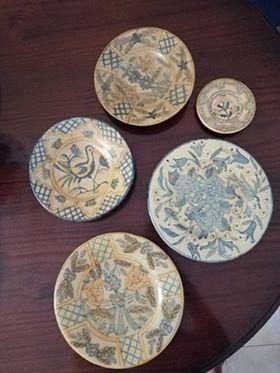 Pratos decorativos olaria tradicional