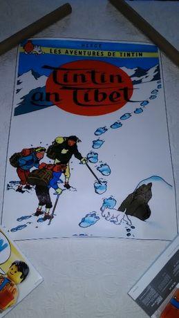 poster tipo canvas tintin no tibete