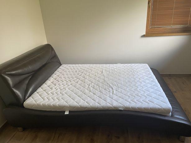 Łóżko do Sypialni SKÓRA naturalna stelaż pod materac 160x200