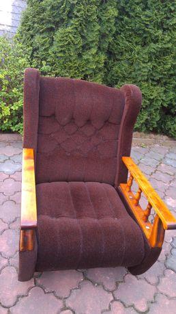 Fotele 2 sztuki, welur + lite drewno