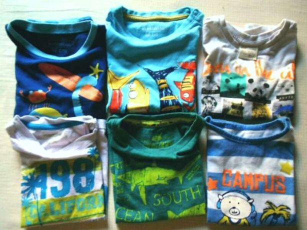Lote de t-shirts variadas, 18/24M