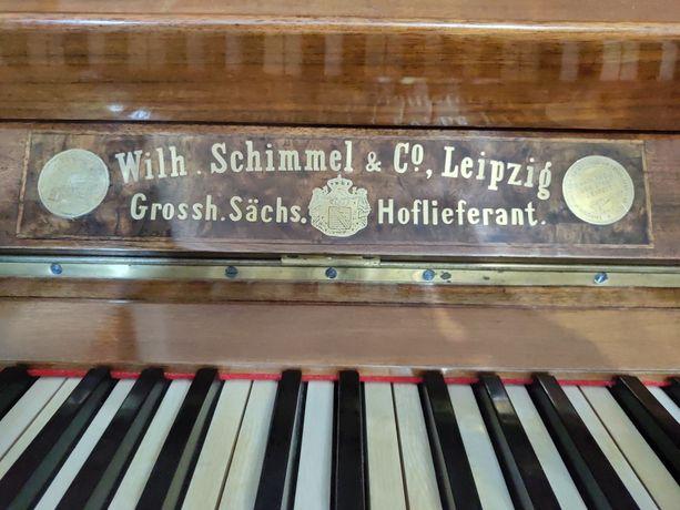Пианино Wilh.Schimmel & Co Leipzig, 19 века